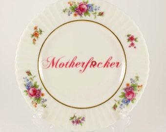 "MOTHERF*CKER Vintage Lenox Bread/Dessert Plate 6 1/4""  CUSTOMIZABLE"