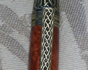 Celtic Knot Pen (Shown in Amboyna burl)