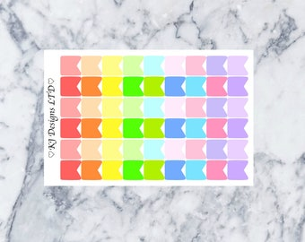 Mini Flag Stickers || 54 Planner Stickers