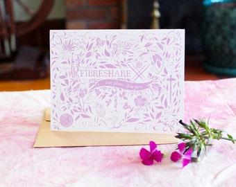 Love Plants, Love Yarn Notecard   FibreShare Card   Blank Card   Vegan Card