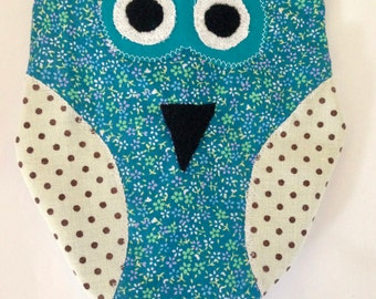 Baby Tag Toy; taggy toy; taggie toy; sensory toy; infant toy; baby gift; owls; ribbons; handmade; baby shower; newborn; snuggle toy