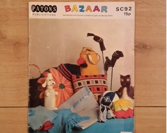 Bazaar by Patons SC92 Knitting and Crochet Novelties for Gifts and Bazaar Stalls,