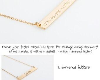 Delicate Bridesmaid Gift, Latitude Longitude Necklace, Rose Gold Coordinates Necklace, Delicate Gold GPS Necklace, Wedding Location Necklace