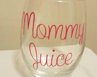 Mommy Juice Stemless Wine Glass