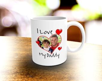 I Love My Daddy Photo Mug, Personalized Photo Memory Mug, Picture Mug, Love Coffee Mug, Personalized Mug, Gift Idea, Valentine Gift