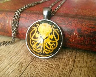 Cthulhu Glass Necklace
