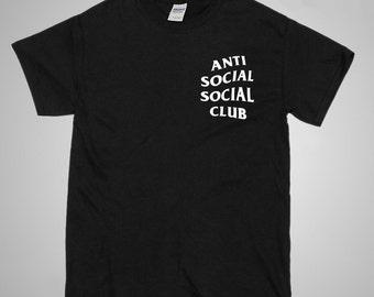 Anti Social Social Club Black T Shirt - Kanye West, I Feel Like Pablo, Gift Idea, Supreme Tee