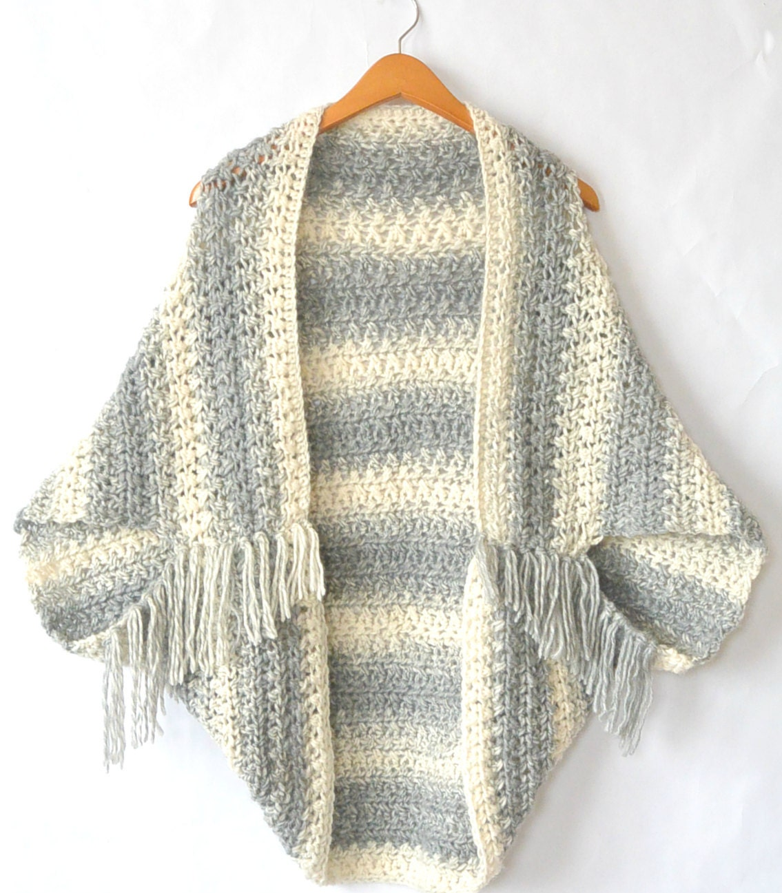 Easy Crocheted Sweater Cacoon Pattern Crocheted Shrug