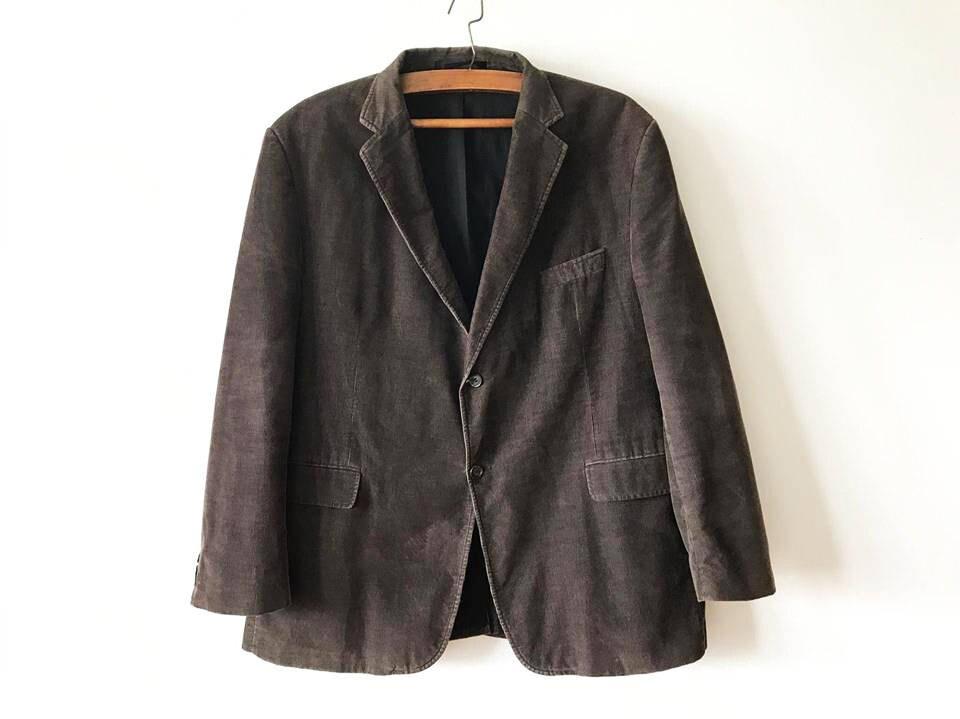 Dark Brown Sport Coat Brown Corduroy Blazer Brown Men's