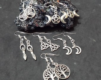 Wicca, wiccan, Pagan, Celtic earrings, paganism