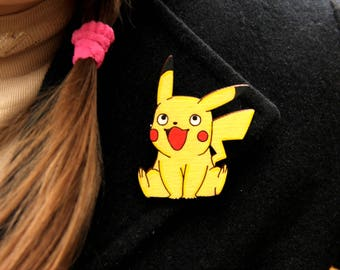 Pokemon Jewelry gift|for|child gift|for|daughter wooden Accessories wood Accessories Pokemon Brooch pokemon pins wooden Brooch wooden pins