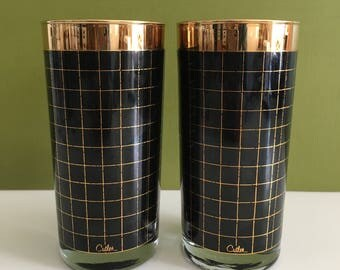 Vintage Cutler Black and Copper Tumblers