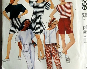 1989 McCall's 4299 Misses Sportswear Knits Size XS 6-8 Uncut FF Sewing Pattern ReTrO Comfy!