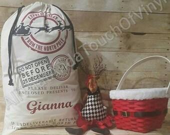 Large Personalized Santa Sacks!! Buy More Save More!!