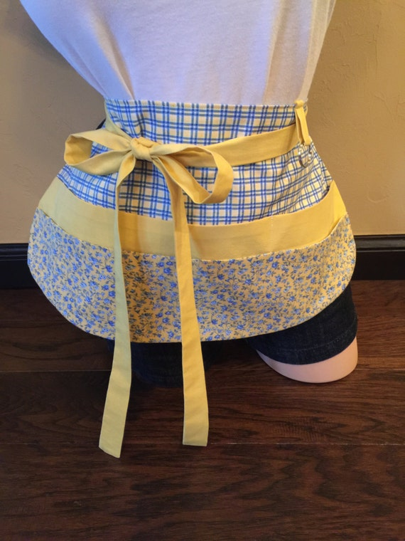 Yellow and Blue Apron