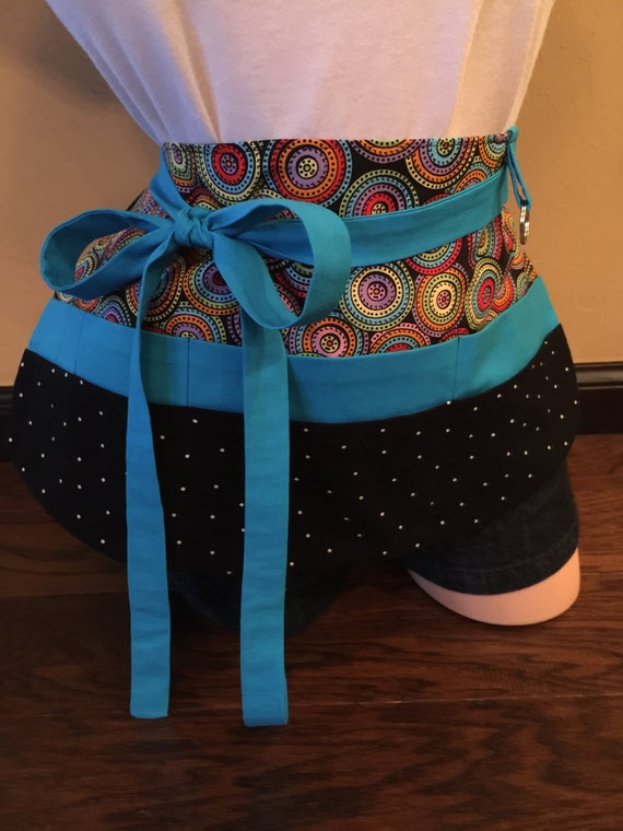 Blue Multi-Color Apron