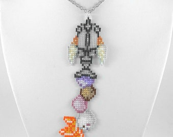 Sweetstack Keyblade Necklace Birth Before Sleep Keyblade Necklace Kingdom Hearts Jewelry Pixel Necklace Game Necklace