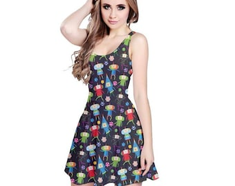 Rolling Cousins Dress - Katamari Dress Katamari Cousins Dress Katamari Damacy Skater Dress Plus Size Dress Video Game Dress Ichigo Dipp