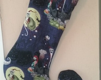 The Nightmare Before Christmas stocking - oversized extra long - in Stock ready to ship