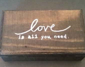 Love Is All You Need small gift box