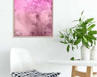 Abstract pink art, Original graphic, Large pink painting, Contemporary artwork, Pink wall art, Office wall decor, Modern pink art, Pink art