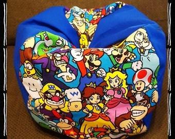 "Handmade Super Mario Bros Nintendo Bean Bag Chair For American Girl Dolls Or Other 18"" Dolls!"