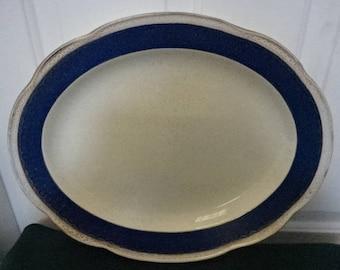 George Jones & Sons Crescent Ware Meat/Serving Platter/Vintage/1940s