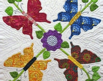 Butterfly Quilt Block Pattern for Nature's Bounty Quilt