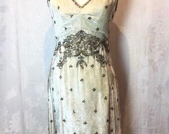 110. TOCCA- Velvet and Sequin Dress