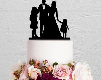 Family Cake Topper,Wedding Cake Topper,Custom Cake Topper,Children Cake Topper,Bride and Groom Cake Topper,Bride And Groom Cake Topper