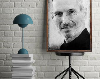 Steve Jobs Poster Steve Jobs Art Steve Jobs Print Steve Jobs Decor Steve Jobs Printable Steve Jobs Digital Download Art