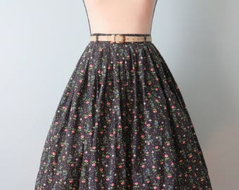 1950s Full Swing Skirt Novelty Print