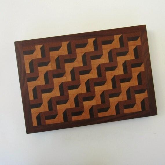 3D Cutting Board End Grain Cutting Board Bread Board Wood