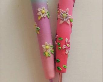 Spring flower ergonomic crochet hooks