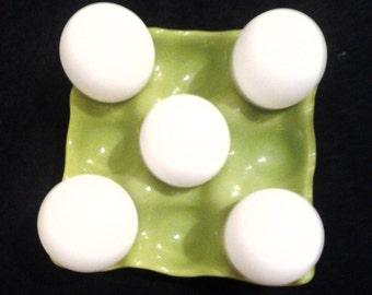 Vntage Ceramic Egg Holder Egg Crate Egg Cradle