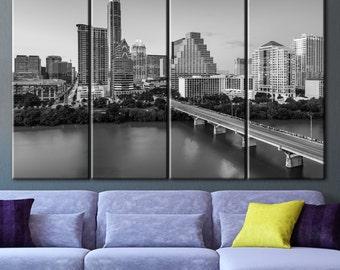 Austin Texas canvas, Art large canvas, Art canvas print, Wall decor panels, Wall art canvas, Wall art decor ideas, Wall decoration, Painting