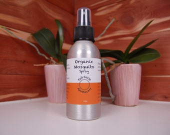 Organic Mosquito Repellent Spray - 4 oz. - Very effective and All-Natural