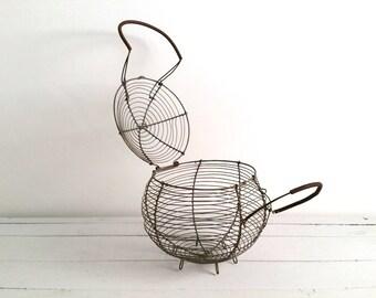 Old French metal kitchen basket