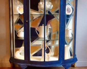 Bow Front Display Cabinet