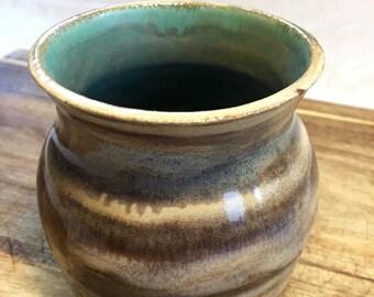 Small pottery vase