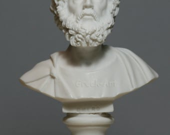 Greek Bust of 1st Epic Poet Author HOMER Art Statue Alabaster Sculpture 5.91in - 15cm **Free Shipping & Free Tracking Number**