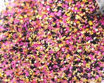 Bangin' Fancy Glitter Sugar Crystals, Edible Glitter, Gold Sugar Crystals, Edible Gold Glitter, Chunky Sugar, Pink and Black  Sugar Crystals