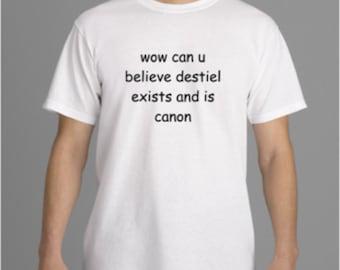 Comic Sans Destiel T-shirt