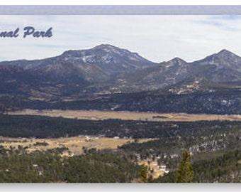 Panoramic Rocky Mountain National Park - Canvas Print