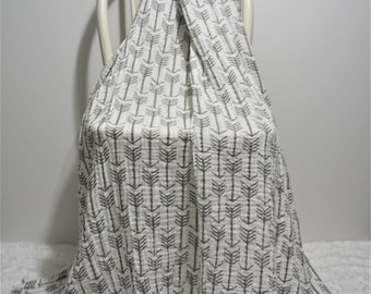 Tribal swaddle blanket gender neutral swaddling blanket gray nursery tribal baby bedding arrow blanket