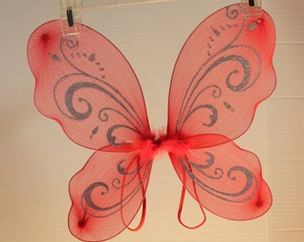 Red Butterfly/Fairy Wings