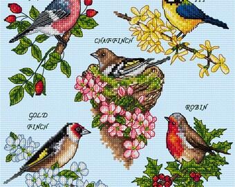 AJBD03 British Garden Birds Chart Only Mail Order