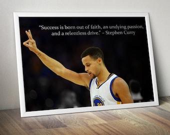 Stephen Curry Inspirational / Motivational Poster