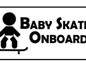 Baby Skater Onboard - Vehicle Window Decal w/ free shipping