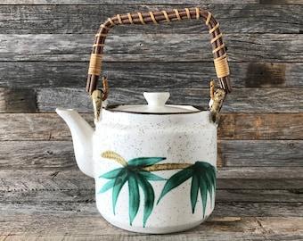 Vintage Painted Ceramic Teapot FTD